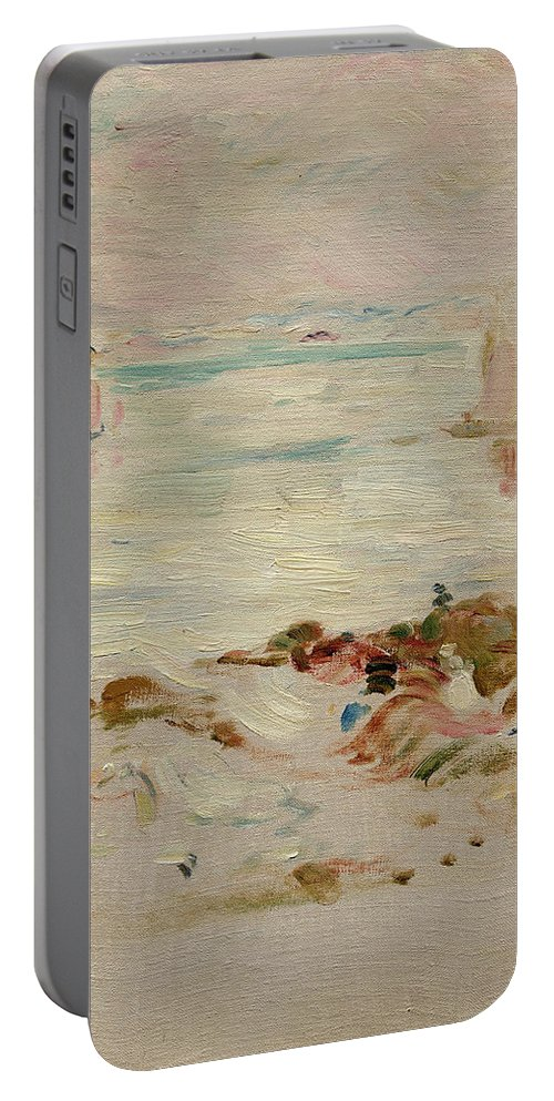 Sailboats Portable Battery Charger featuring the painting Sailboats by Berthe Morisot