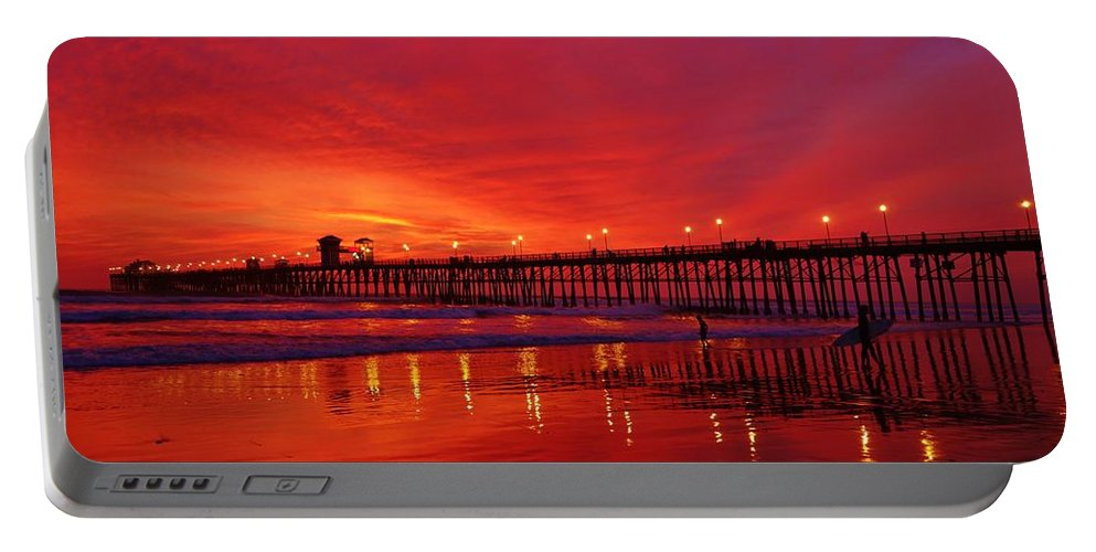 Oceanside Portable Battery Charger featuring the photograph Sailor's Delight by Allissa Thompson