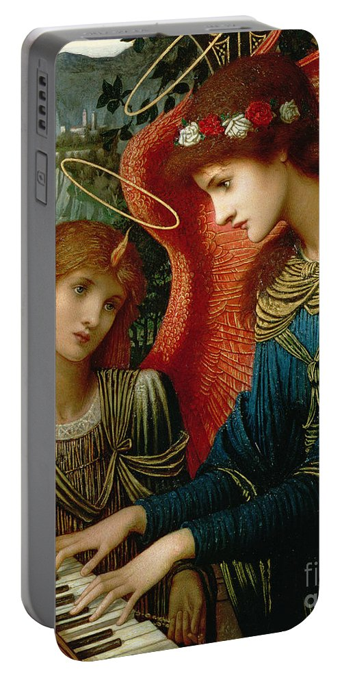 St. Cecilia Portable Battery Charger featuring the painting Saint Cecilia by John Melhuish Strukdwic
