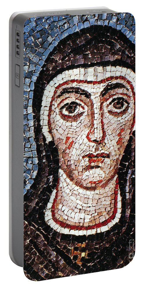 3rd Century Portable Battery Charger featuring the painting Saint Felicity (d. 203) by Granger