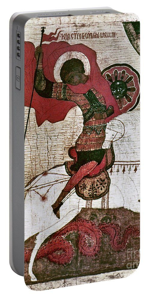 15th Century Portable Battery Charger featuring the photograph Saint George by Granger