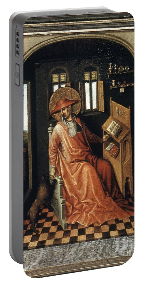 1440 Portable Battery Charger featuring the painting Saint Jerome (340-420) by Granger