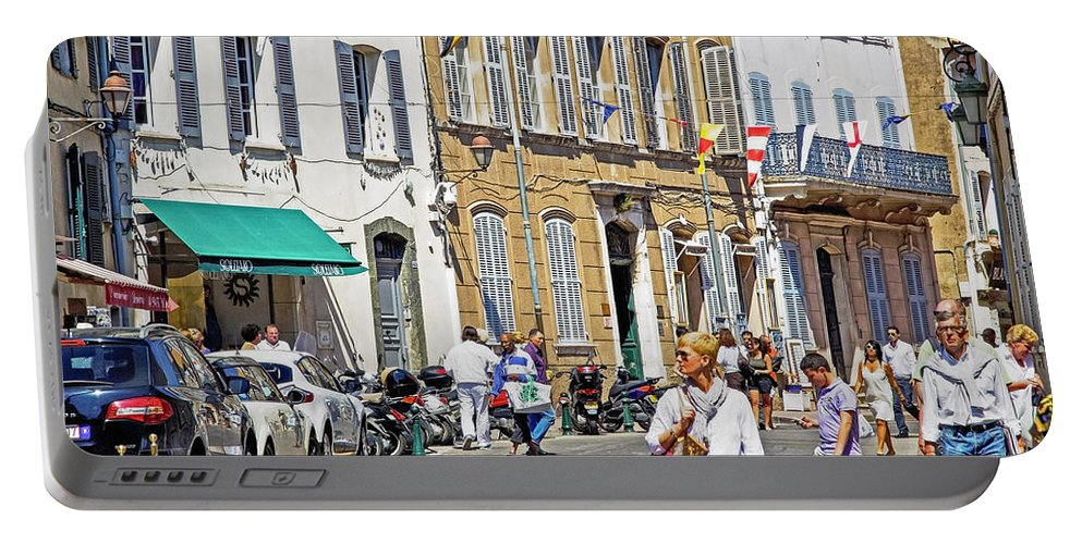 Saint-tropez Portable Battery Charger featuring the photograph Saint Tropez Moment by Keith Armstrong