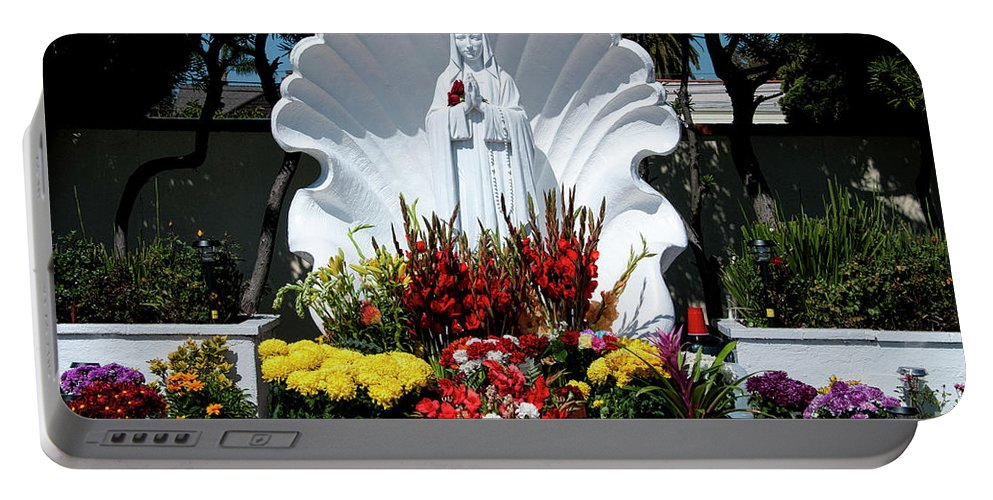 Beautiful Portable Battery Charger featuring the photograph Saint Virgin Mary Statue #2 by Julian Starks