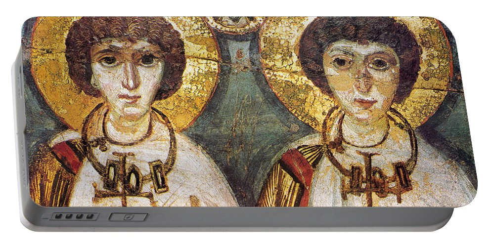 7th Century Portable Battery Charger featuring the photograph Saints Sergius And Bacchus by Granger