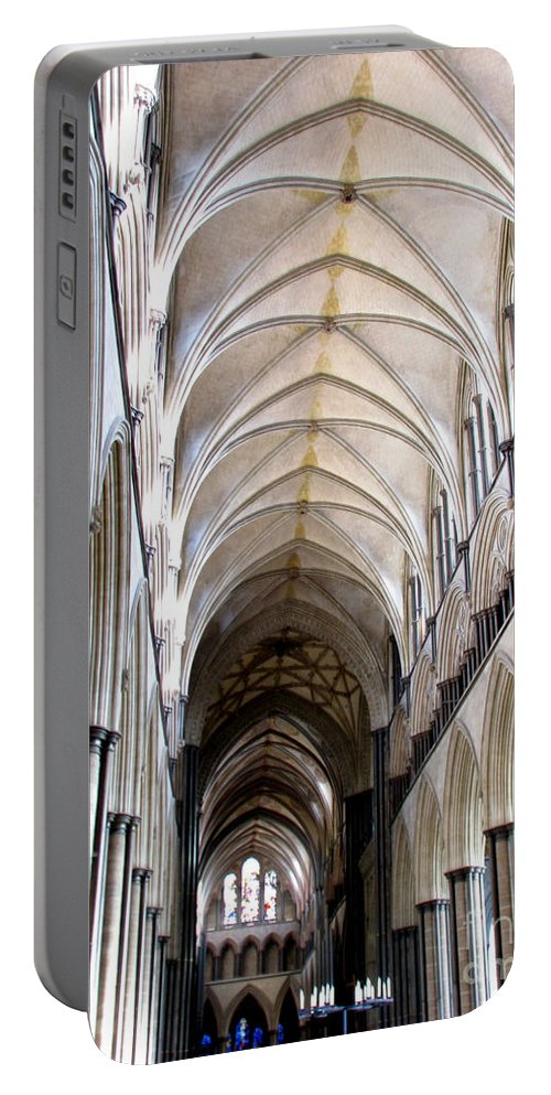 Salisbury Portable Battery Charger featuring the photograph Salisbury Cathedral by Amanda Barcon