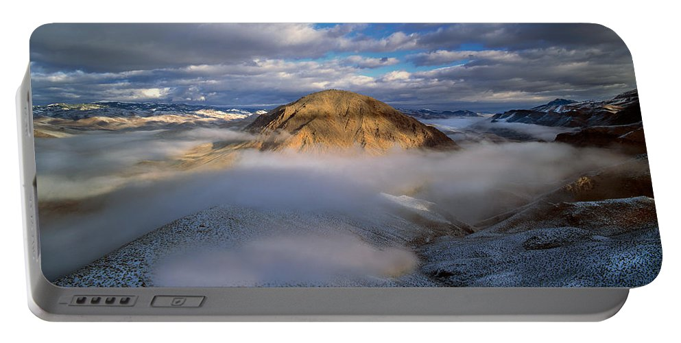Idaho Portable Battery Charger featuring the photograph Salmon River Mountains by Leland D Howard