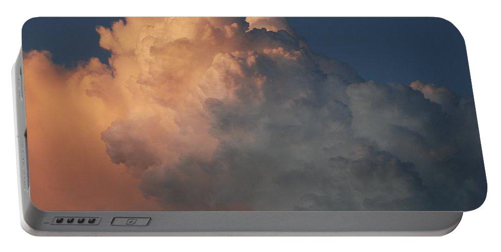 Clouds Portable Battery Charger featuring the photograph Salmon Sky by Rob Hans
