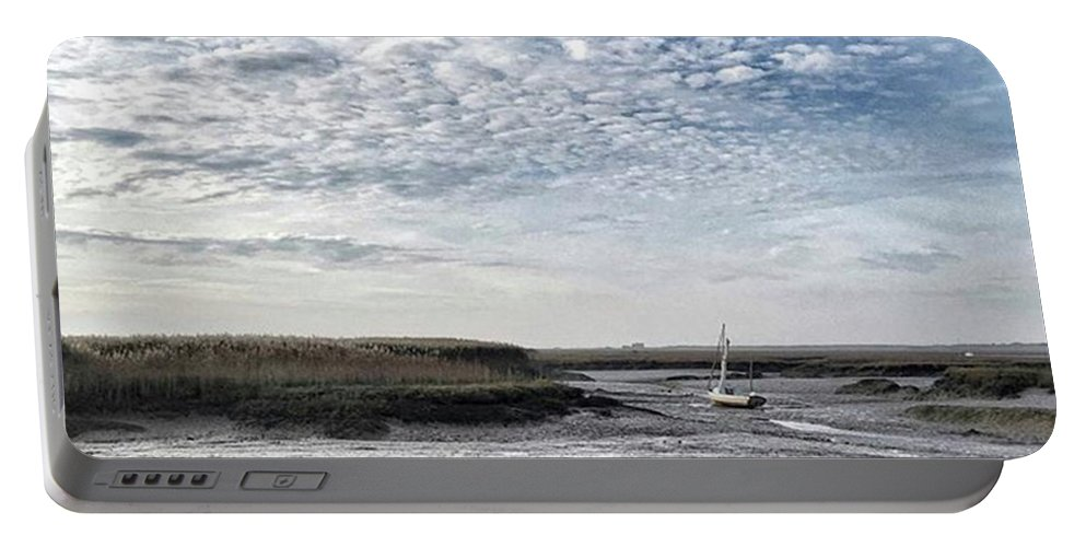 Beautiful Portable Battery Charger featuring the photograph Salt Marsh And Creek, Brancaster by John Edwards
