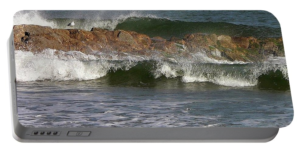 Salty Spray Portable Battery Charger featuring the photograph Salty Spray by Al Powell Photography USA