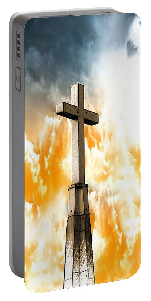 Cross Portable Battery Charger featuring the photograph Salvation by Aaron Berg