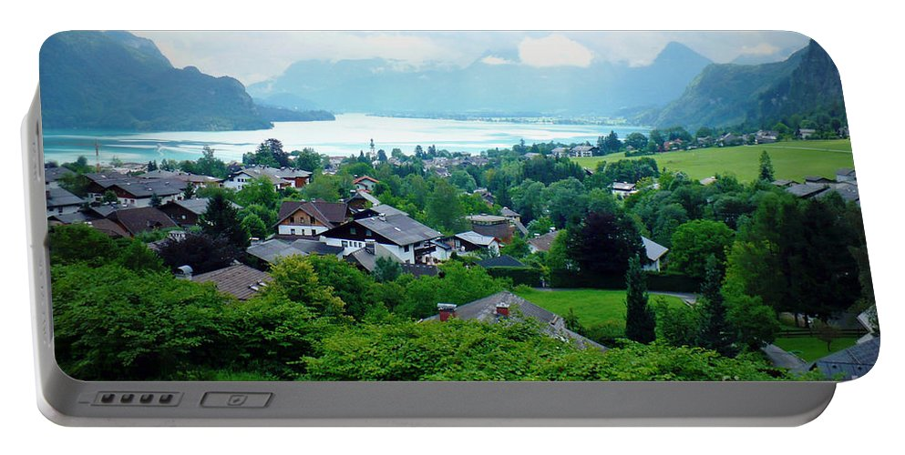 Austria Portable Battery Charger featuring the photograph Salzburg Lake District by Carol Groenen