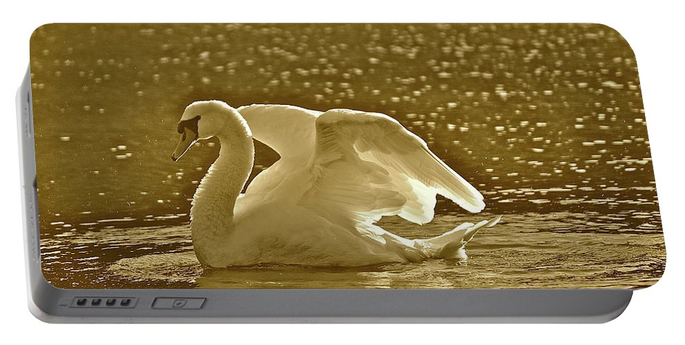 Swan Portable Battery Charger featuring the photograph Sam by Diana Hatcher