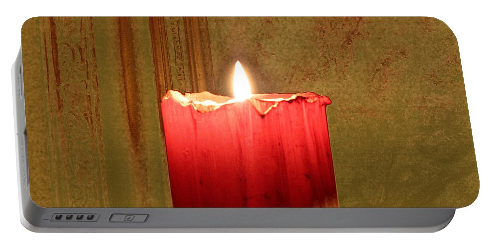 Candle Portable Battery Charger featuring the photograph Same Candle New Color by Sarah Houser