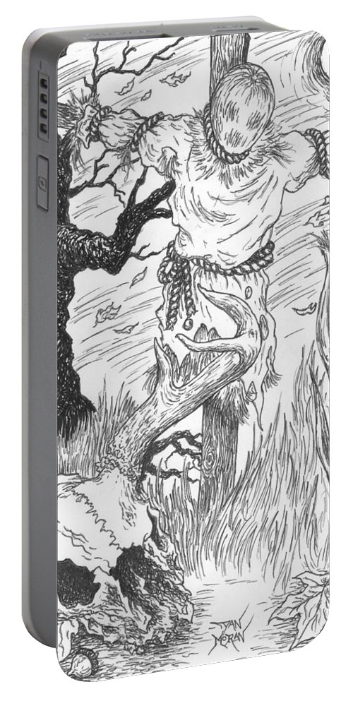 Pen Portable Battery Charger featuring the drawing Samhain by Dan Moran