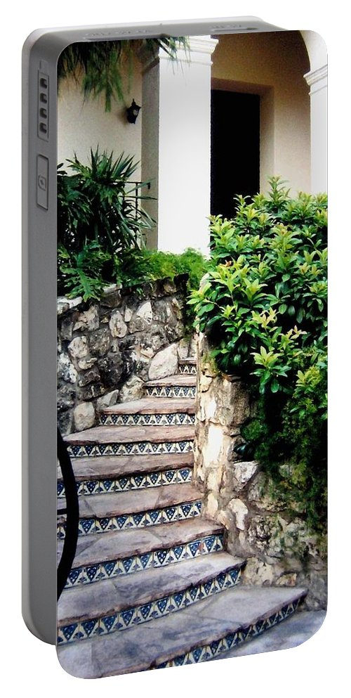 San Antonio Stairway Portable Battery Charger featuring the photograph San Antonio Stairway by Will Borden