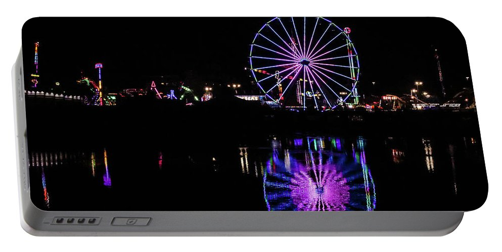 Sandiego Portable Battery Charger featuring the photograph San Diego Fair by Rebecca Wineka