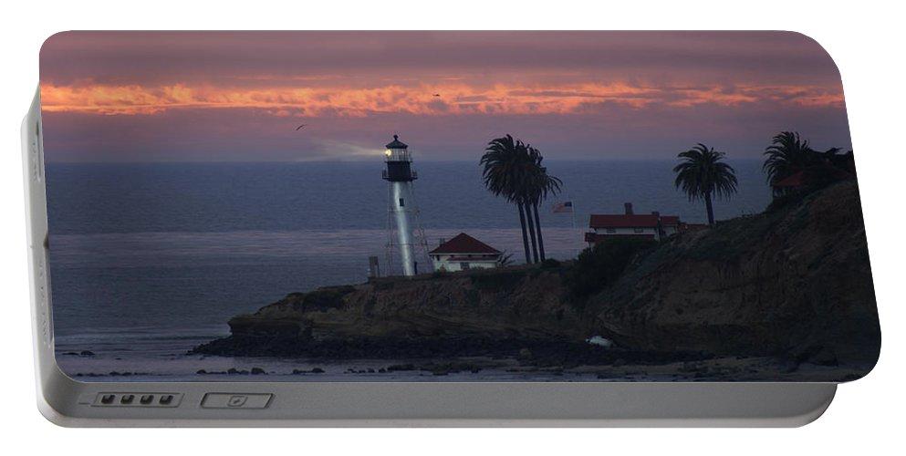 San Deigo Portable Battery Charger featuring the photograph San Diego Lighthouse by Heather Coen