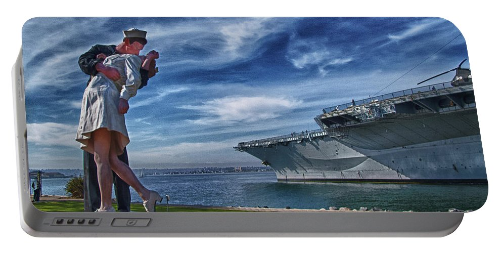 Sailor Portable Battery Charger featuring the photograph San Diego Sailor by Chris Lord