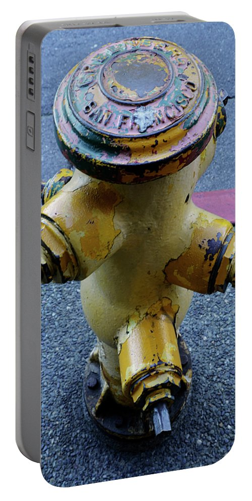 San Francisco Portable Battery Charger featuring the photograph San Fran Hydrant by Bob Christopher