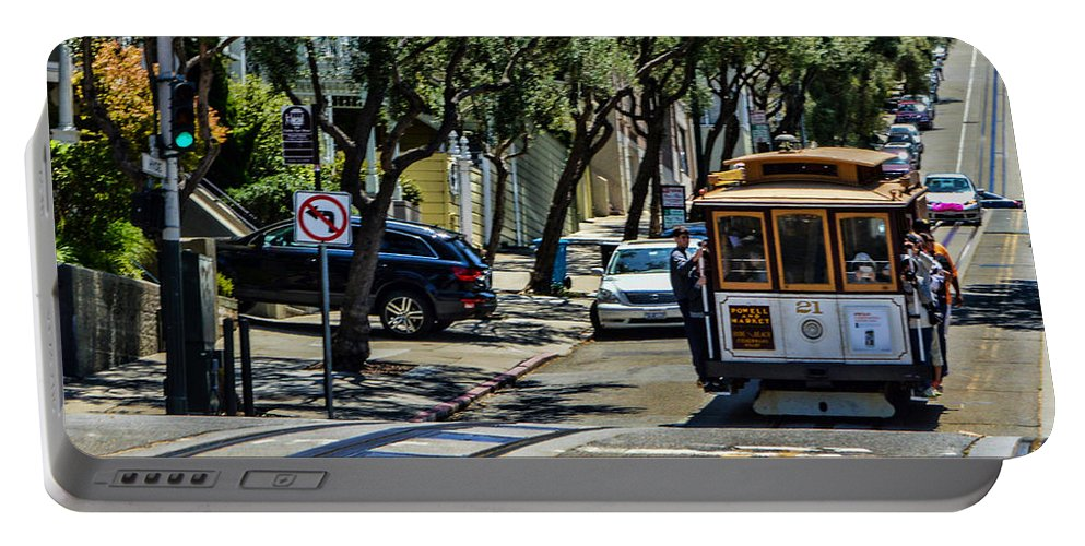 Cable Cars Portable Battery Charger featuring the photograph San Francisco, Cable Cars -1 by Tommy Anderson