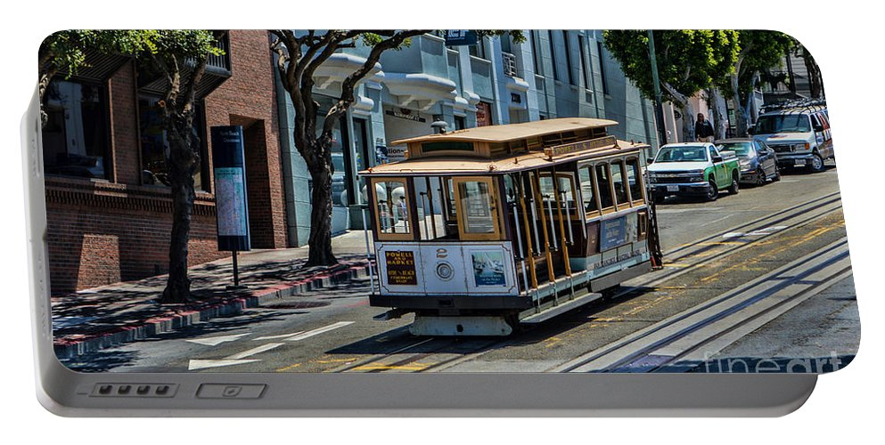 Cable Cars Portable Battery Charger featuring the photograph San Francisco, Cable Cars -2 by Tommy Anderson