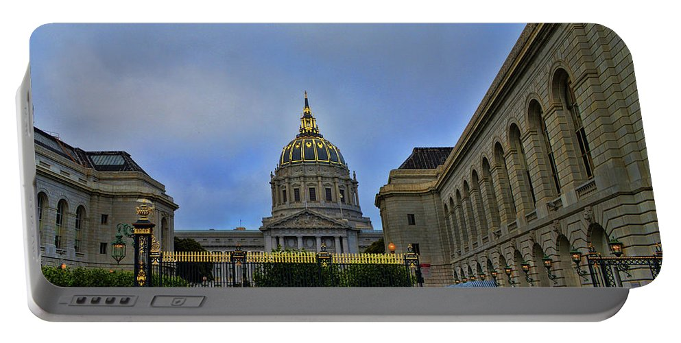 San Francisco City Hall Portable Battery Charger featuring the photograph San Francisco City Hall by Tommy Anderson