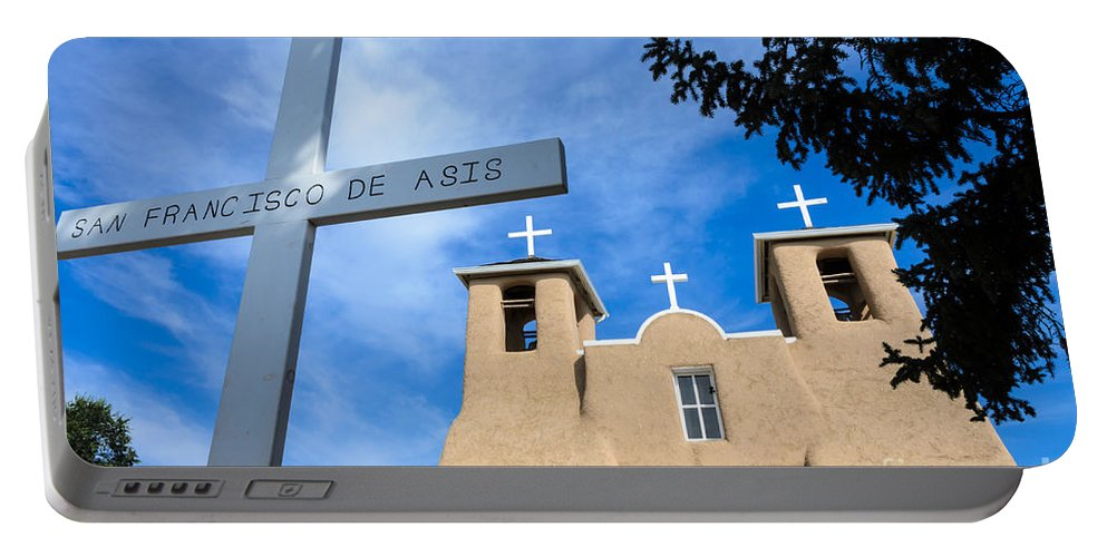 San Francisco De Assisi Mission Church Portable Battery Charger featuring the photograph San Francisco De Asis - Rancho De Taos by Debra Martz
