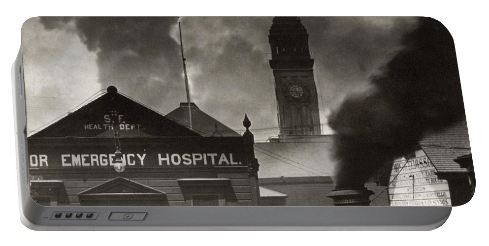 1906 Portable Battery Charger featuring the photograph San Francisco Earthquake by Granger