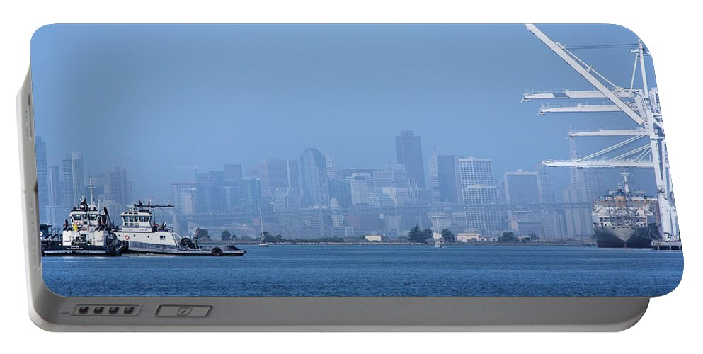 City Scape Portable Battery Charger featuring the photograph San Francisco From Alameda by Rogers