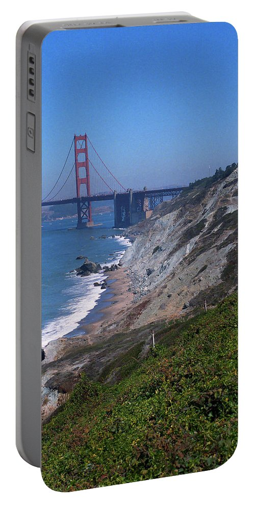 America Portable Battery Charger featuring the photograph San Francisco - Golden Gate Bridge by Frank Romeo