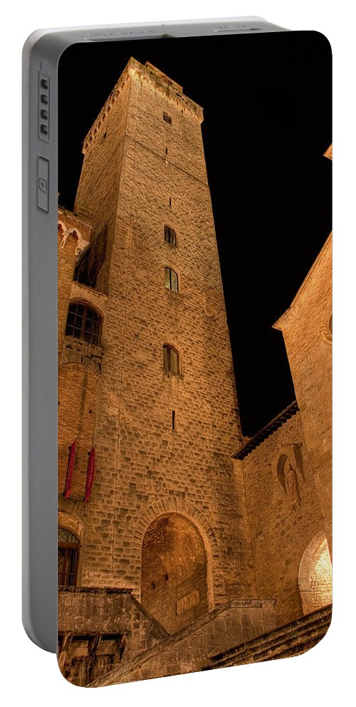 Italy Portable Battery Charger featuring the photograph San Gimignano by Colette Panaioti