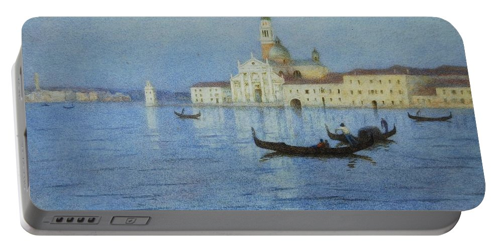 San Portable Battery Charger featuring the painting San Giorgio Maggiore by Helen Allingham