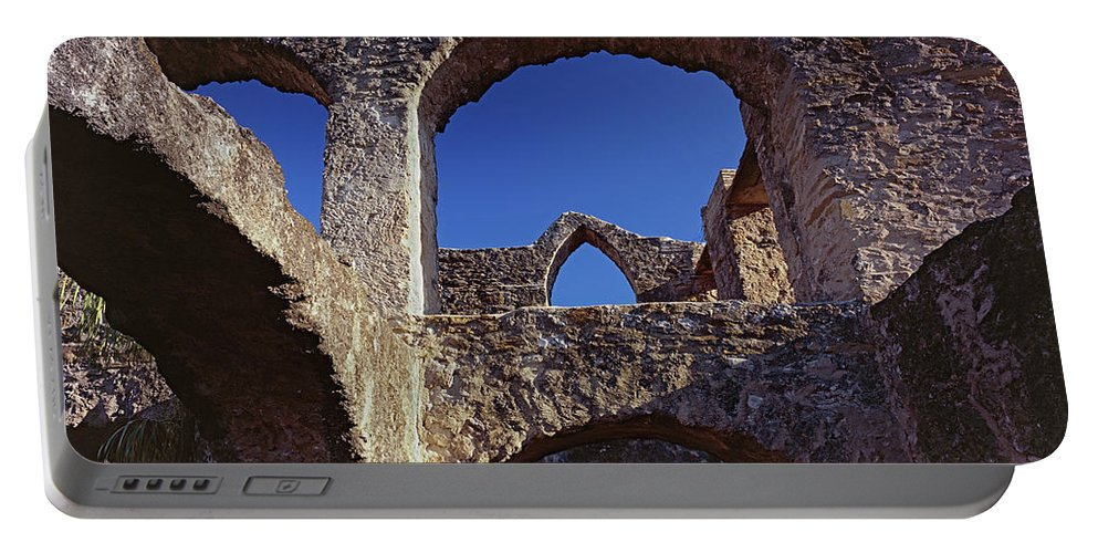 Mission San Jose Portable Battery Charger featuring the photograph San Jose Arches A by Tom Daniel