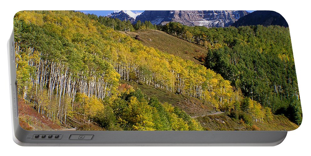Mountains Portable Battery Charger featuring the photograph San Juan Mountains Fall Color Colorado by Carol Milisen
