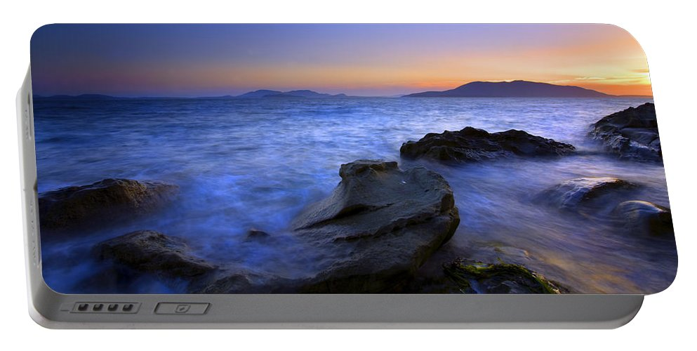 Sunset Portable Battery Charger featuring the photograph San Juan Sunset by Mike Dawson
