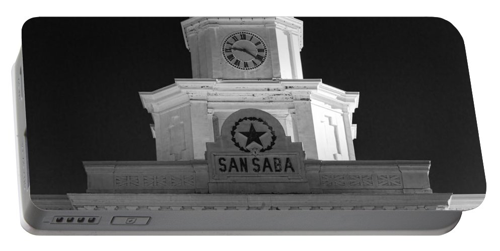 Courthouse Portable Battery Charger featuring the photograph San Saba Couthouse by Stephen Stookey