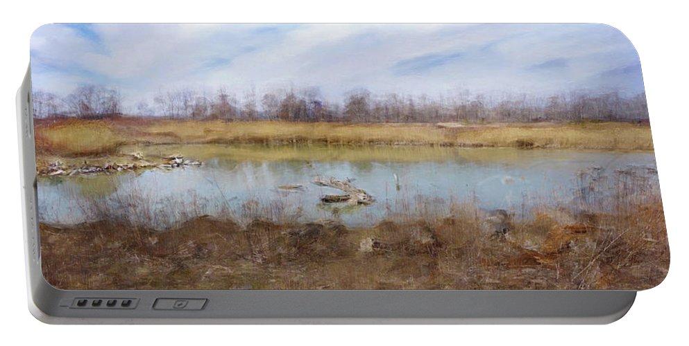 Landscape Portable Battery Charger featuring the photograph Sanctuary by David Boudreau