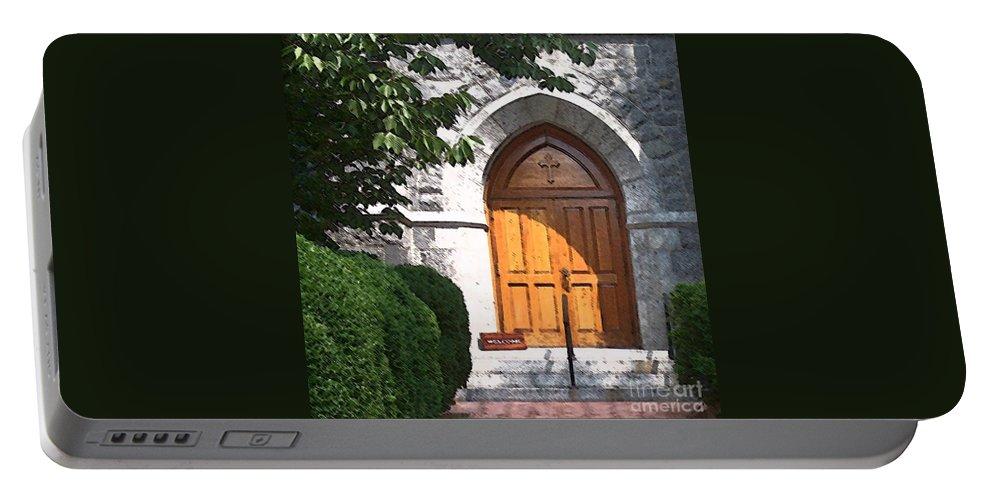 Church Portable Battery Charger featuring the photograph Sanctuary by Debbi Granruth
