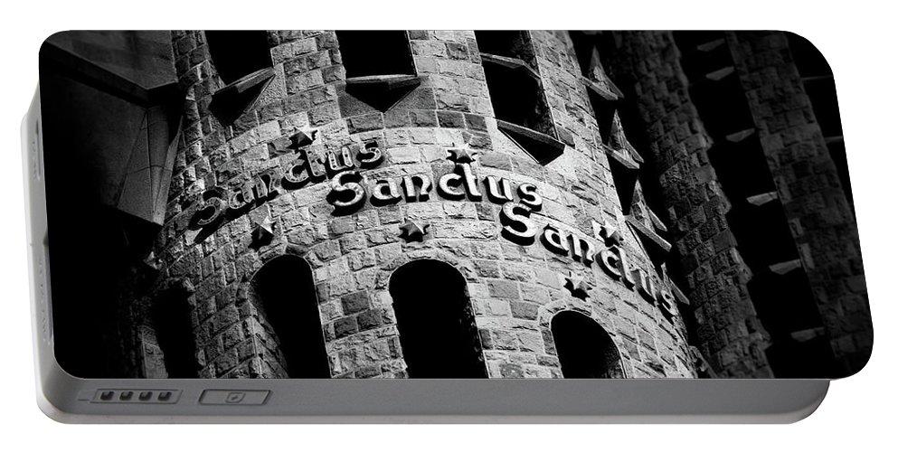 Religious Portable Battery Charger featuring the photograph Sanctus Sanctus Sanctus by Pavel Melnikov