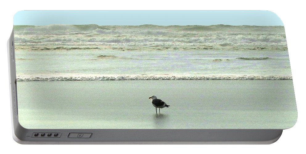 Sand And Sea Portable Battery Charger featuring the photograph Sand And Sea 8 by Will Borden