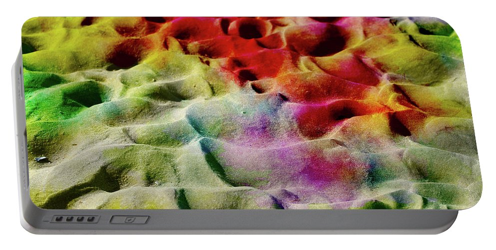 Current Portable Battery Charger featuring the photograph Sand Art Abstract by Geraldine Scull