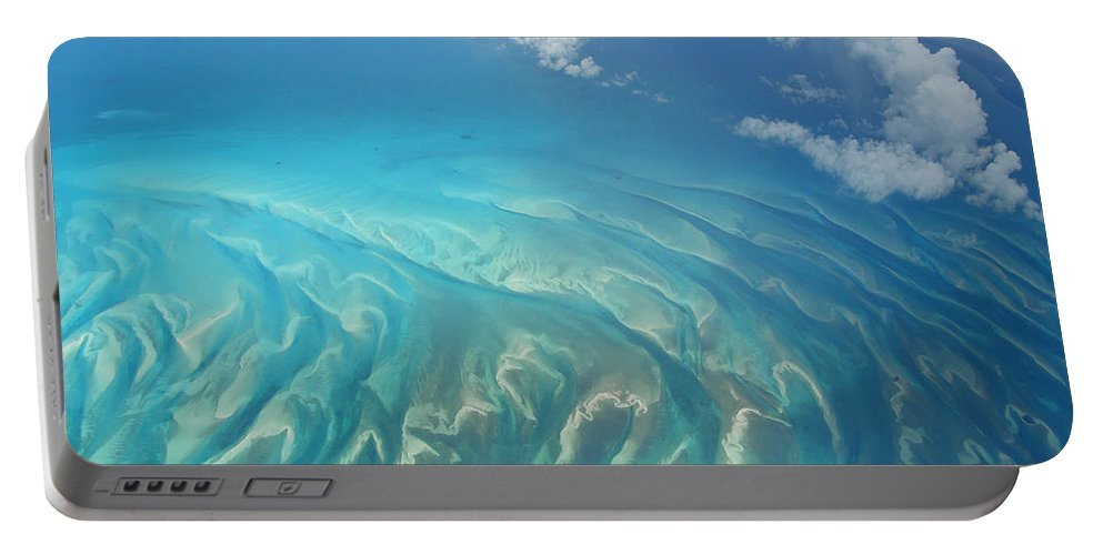 Ocean Portable Battery Charger featuring the photograph Sand Banks by Kimberly Mohlenhoff