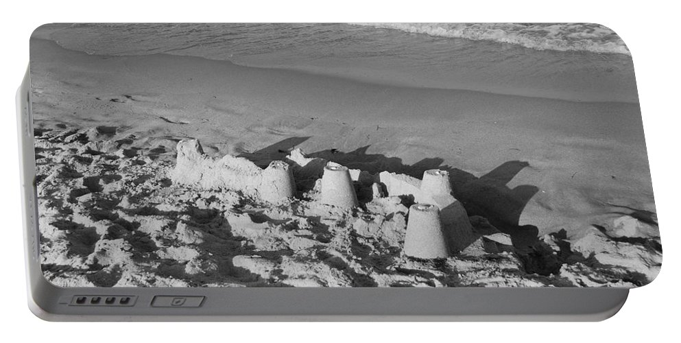 Sea Scape Portable Battery Charger featuring the photograph Sand Castles By The Shore by Rob Hans