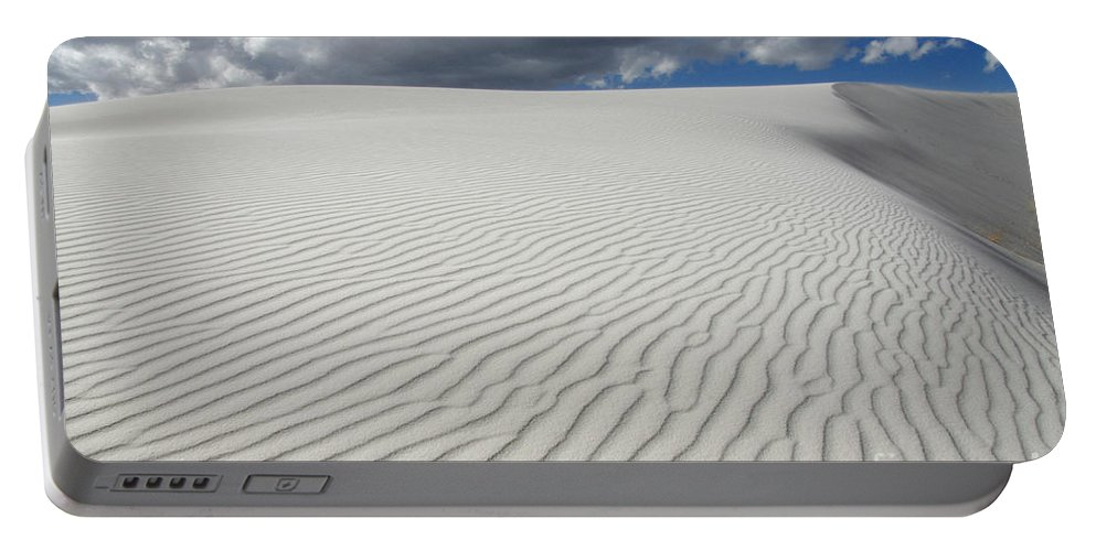 Sand Portable Battery Charger featuring the photograph Sand Dune Magic 1 by Bob Christopher