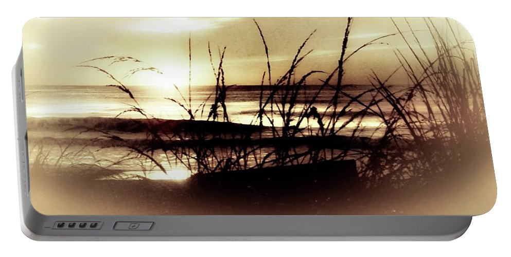 Sunset Portable Battery Charger featuring the photograph Sand Dunes Sunset by Michael Forte