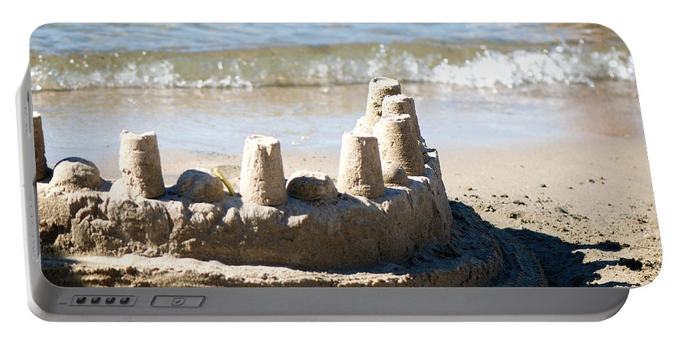 Sand Portable Battery Charger featuring the photograph Sandcastle by Lisa Knechtel