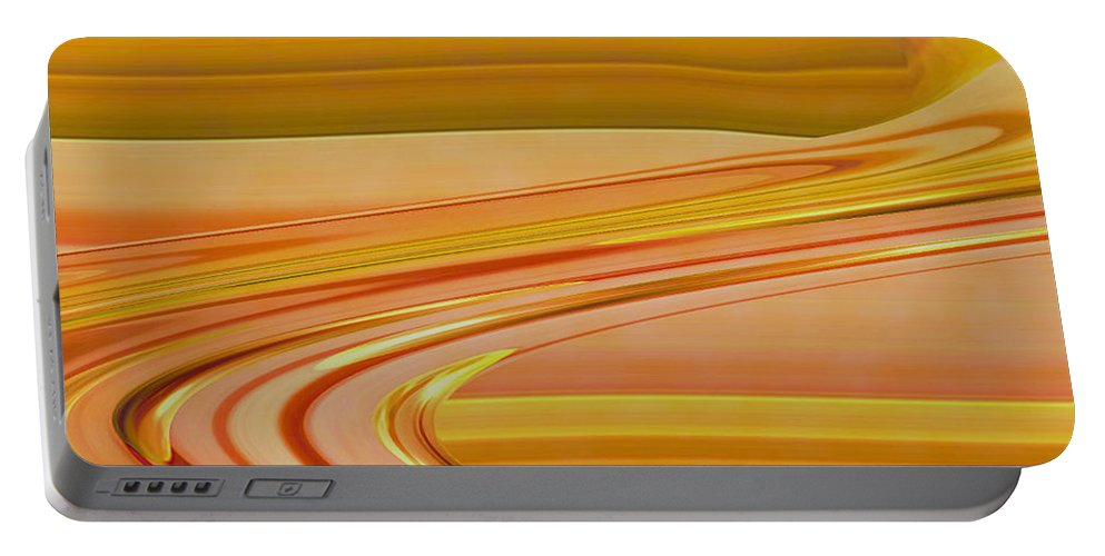 Sunset Art Portable Battery Charger featuring the digital art Sands Of Time by Linda Sannuti