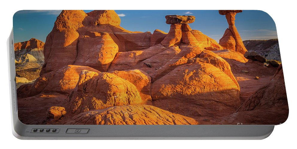 America Portable Battery Charger featuring the photograph Sandstone Castle by Inge Johnsson