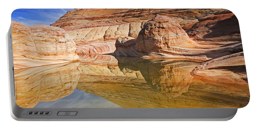Pool Portable Battery Charger featuring the photograph Sandstone Illusions by Mike Dawson
